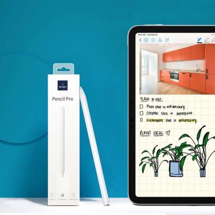 WIWU Pencil Pro for iPad Pencil Tilt Sensitivity for iPad Pro 12.9 11 2020 2018 2019 6th 7th Palm Rejection Stylus