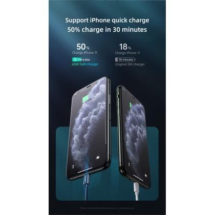 Mcdodo Dual Type-C + USB Ports 65W GaN Mini Fast Charger (UK Plug) (PD3.0/AFC/SCP/FCP/QC3.0) CH791