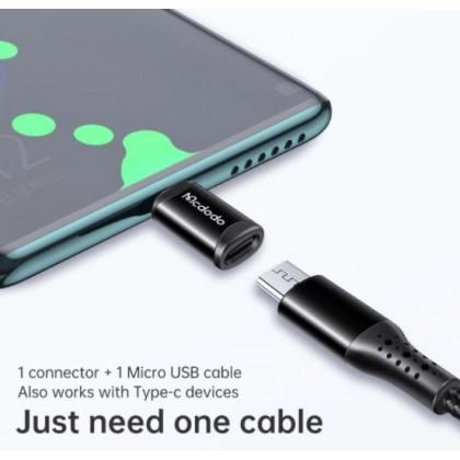 MCDODO Micro USB to Type-C OTG Connector (OT-9970) - Black